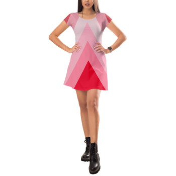 Short Sleeve Dress - The Candy Cane Wall