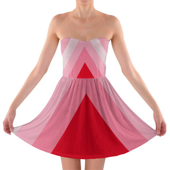 Sweetheart Strapless Skater Dress - The Candy Cane Wall