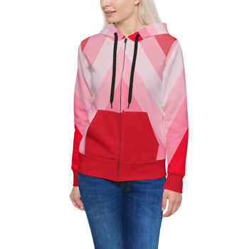 Women's Zip Up Hoodie - The Candy Cane Wall