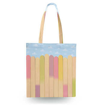 Canvas Tote Bag - The Popsicle Stick Wall