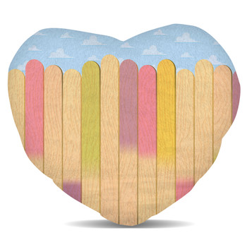 Fleece Cushion - The Popsicle Stick Wall