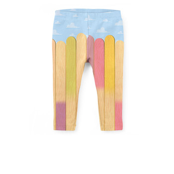 Girls' Capri Leggings - The Popsicle Stick Wall