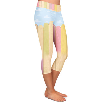 Yoga Capri Leggings - The Popsicle Stick Wall