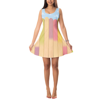 Sleeveless Flared Dress - The Popsicle Stick Wall