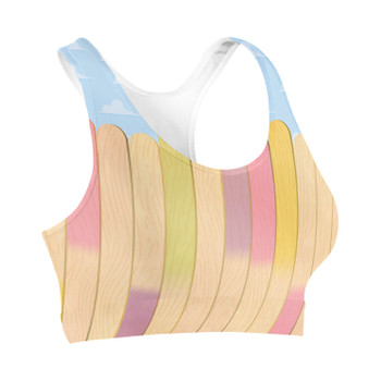 Sports Bra - The Popsicle Stick Wall