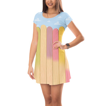 Short Sleeve Dress - The Popsicle Stick Wall