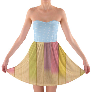 Sweetheart Strapless Skater Dress - The Popsicle Stick Wall