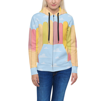Women's Zip Up Hoodie - The Popsicle Stick Wall