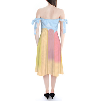 Strapless Bardot Midi Dress - The Popsicle Stick Wall