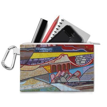 Canvas Zip Pouch - The Mosaic Wall