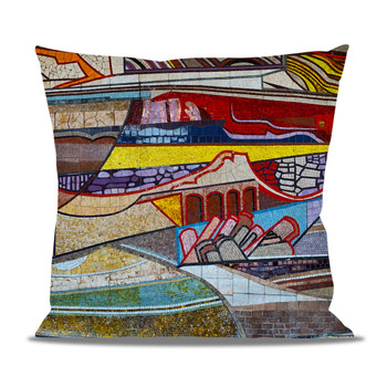 Fleece Cushion - The Mosaic Wall