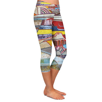 Yoga Capri Leggings - The Mosaic Wall