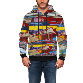 Men's Zip Up Hoodie - The Mosaic Wall