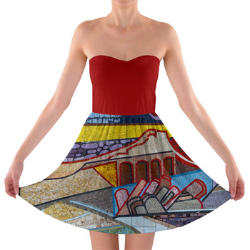 Sweetheart Strapless Skater Dress - The Mosaic Wall