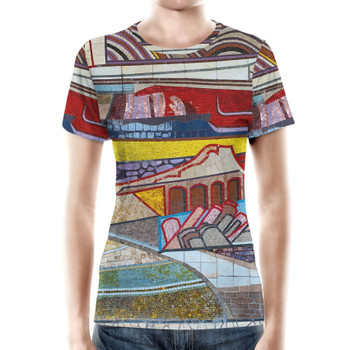 Women's Cotton Blend T-Shirt - The Mosaic Wall