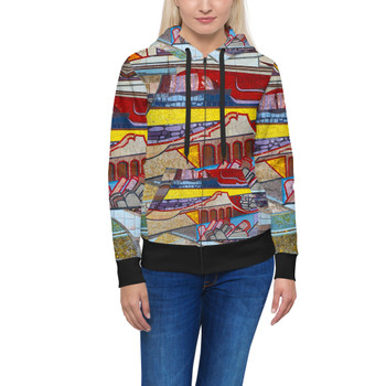 Women's Zip Up Hoodie - The Mosaic Wall