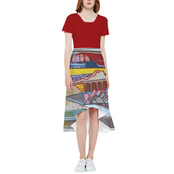 High Low Midi Dress - The Mosaic Wall