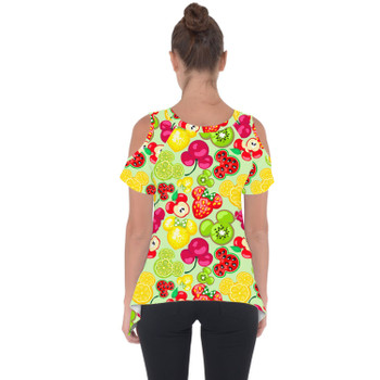 Cold Shoulder Tunic Top - Mickey's Fruit Fiesta
