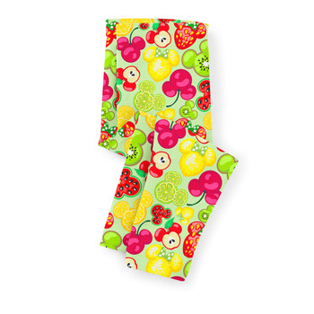 Girls' Capri Leggings - Mickey's Fruit Fiesta