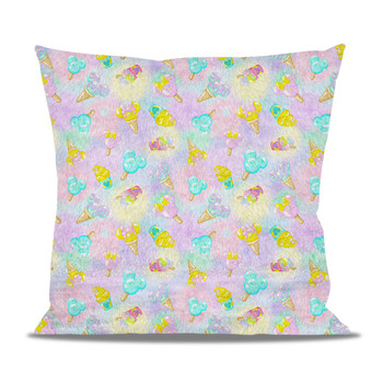 Fleece Cushion - Pastel Ice Cream Dreams