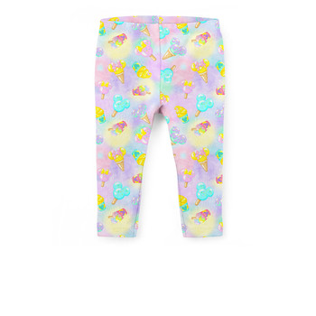 Girls' Capri Leggings - Pastel Ice Cream Dreams
