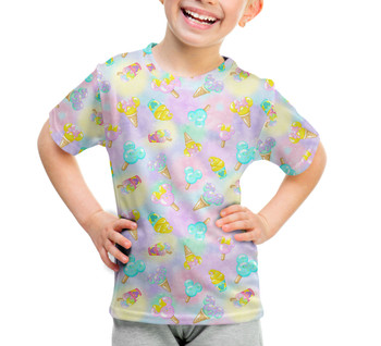 Youth Cotton Blend T-Shirt - Pastel Ice Cream Dreams