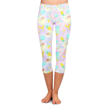 Yoga Capri Leggings - Pastel Ice Cream Dreams