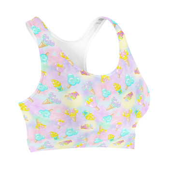 Sports Bra - Pastel Ice Cream Dreams