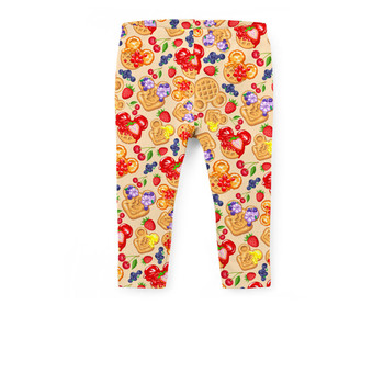 Girls' Capri Leggings - Magical Breakfast Waffles