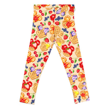 Girls' Leggings - Magical Breakfast Waffles