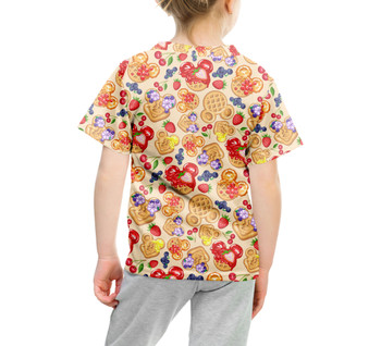 Youth Cotton Blend T-Shirt - Magical Breakfast Waffles