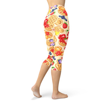 Winter Capri Leggings - Magical Breakfast Waffles
