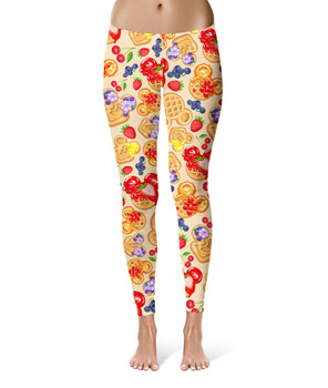 Sport Leggings - Magical Breakfast Waffles