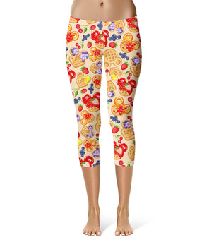 Sport Capri Leggings - Magical Breakfast Waffles