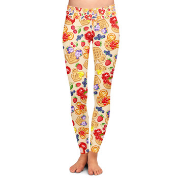 Yoga Leggings - Magical Breakfast Waffles