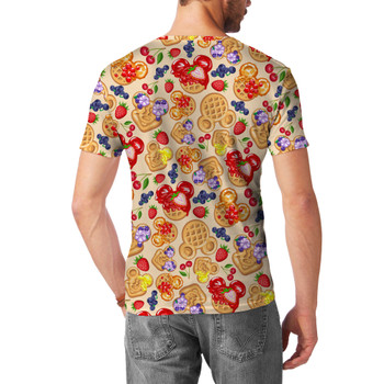 Men's Sport Mesh T-Shirt - Magical Breakfast Waffles