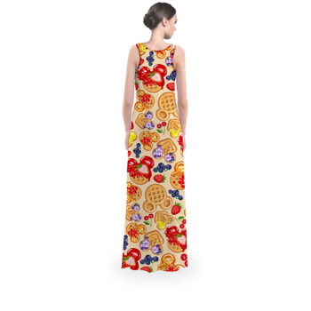 Flared Maxi Dress - Magical Breakfast Waffles