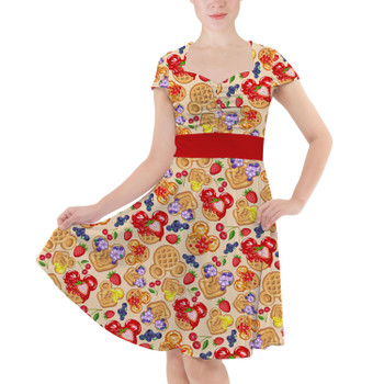 Sweetheart Midi Dress - Magical Breakfast Waffles