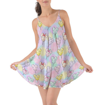 Beach Cover Up Dress - Cotton Candy Mouse Ears