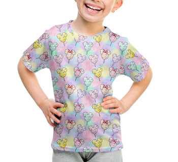 Youth Cotton Blend T-Shirt - Cotton Candy Mouse Ears