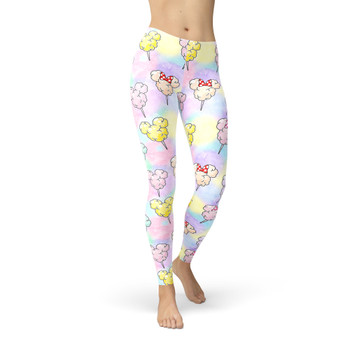 Winter Leggings - Cotton Candy Mouse Ears