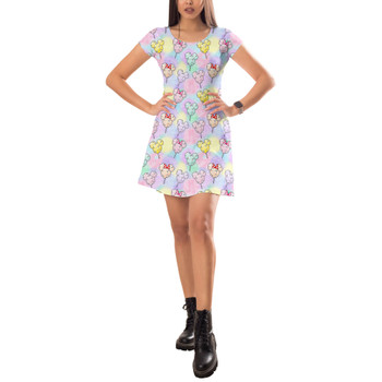 Short Sleeve Dress - Cotton Candy Mouse Ears