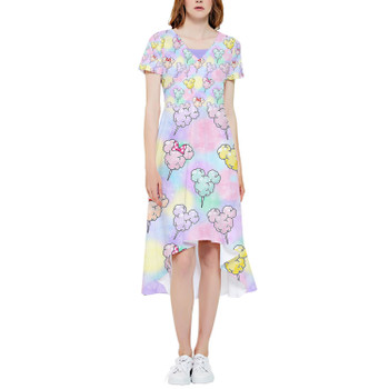 High Low Midi Dress - Cotton Candy Mouse Ears