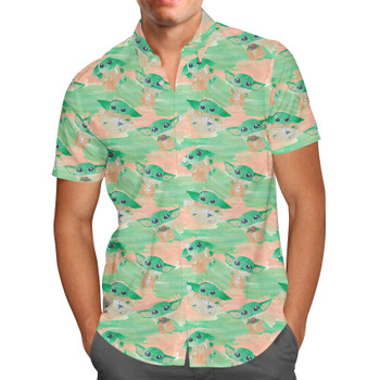 Men's Button Down Short Sleeve Shirt - The Camouflaged Child