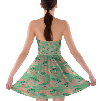 Sweetheart Strapless Skater Dress - The Camouflaged Child