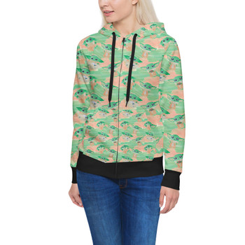 Women's Zip Up Hoodie - The Camouflaged Child