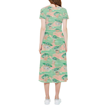 High Low Midi Dress - The Camouflaged Child