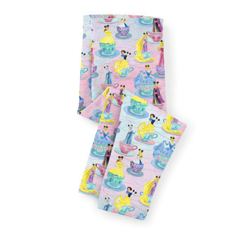 Girls' Capri Leggings - Princess Tea Cups