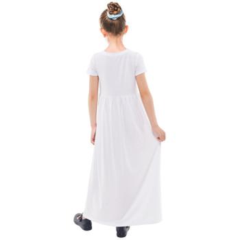 Girls Short Sleeve Cotton Maxi Dress