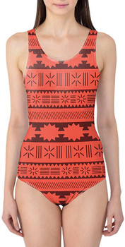 Suimsuit - M - Moana Tribal Print - READY TO SHIP